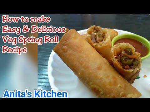 Indo Chinese recipe   Veg Spring Roll recipe   Veg rolls recipe