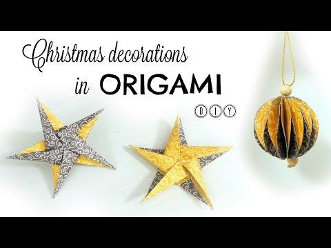 Christmas ornaments in ORIGAMI DIY