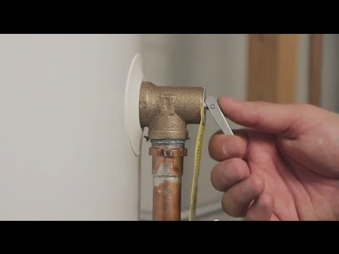 How to test your water heater's temperature and pressure relief valve