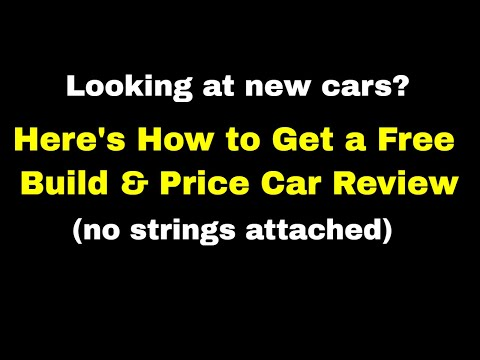 Get a Free Build & Price YouTube Car Review - Here's How - Online Car Configuration Tool