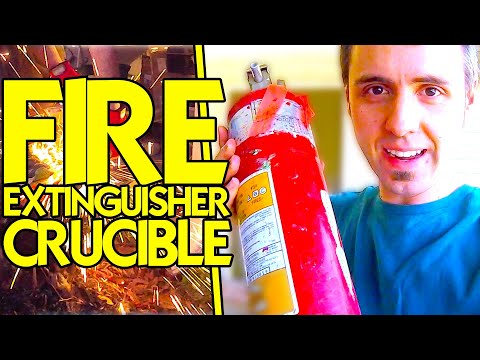 CUTTING A FIRE EXTINGUISHER | Fire Extinguisher Crucible to Melt Aluminum