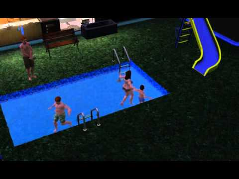 Sims 3 fishing in swimming pool
