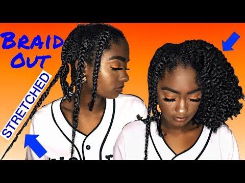 STRETCHED Braid Out: 4a/4b Hair | alexuscrown