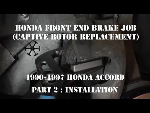 1990-1997 Accord Brake Job (Captive Rotor Replacement) Hub Over Rotor Part 2