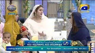 Geo Ramzan Iftar Transmission - Jazba e Khidmat - 24 May 2019 - Ehsaas Ramzan