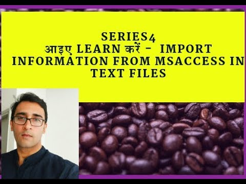 Create Text files and import ms access data - Series4