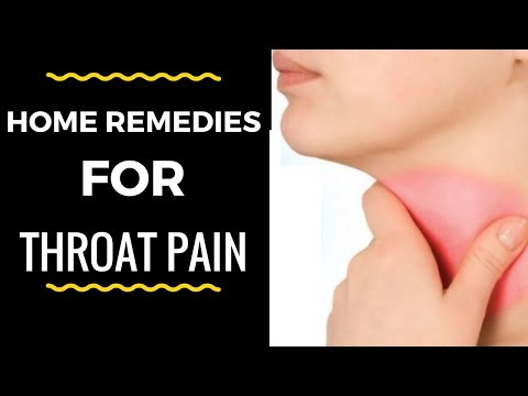 Throat Pain Home Remedies | How to Cure A Sore Throat ! - very painful sore throat Remedy That Works