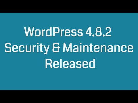 WordPress 4.8.2 Security & Maintenance Release
