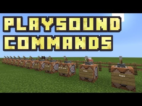 Minecraft PE -  How To Get Playsound Commands! (Playsound Command Map!)