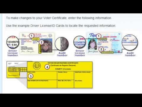 Texas.gov Voter Name & Address Change Demo Video