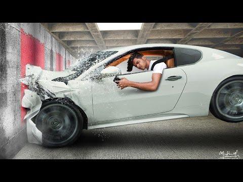 Photo Manipulation - Car Crash - Realistic Accident - Photoshop Tutorials
