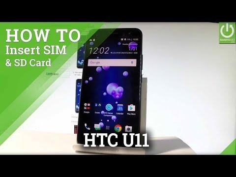 How to Insert SIM & SD in HTC U11 - Nano SIM and Micro SD Slot