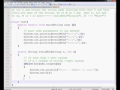Problem 2 -Saturday Tutorial - Java Removing every nth characters from Strings
