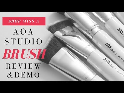 NEW AOA STUDIO 10 piece Sculpting Brush set Review & Demo!