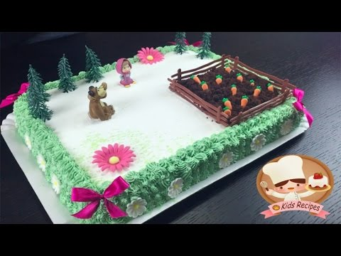MASHA AND BEAR BIRTHDAY CAKE for baby Special cake for kids.Easy recipes for MASHA & BEAR PARTY