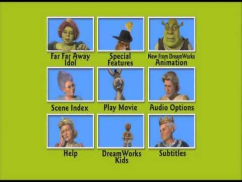 Shrek 2 DVD Menu  with Donkey