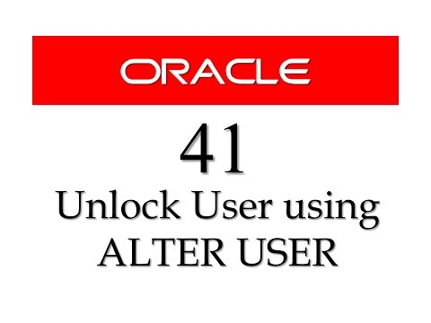 SQL tutorial 41: How to UNLOCK USER in oracle Database