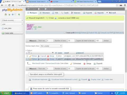 Php tutorial 8 - Php and Mysql,Check if user exist in database,check by email