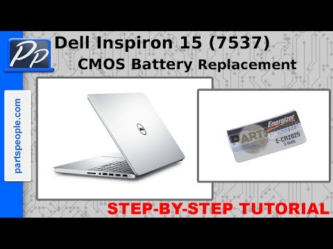 Dell Inspiron 15 (7537) CMOS Battery Video Tutorial Teardown