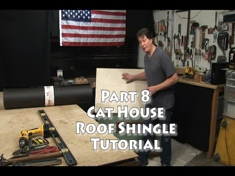 Cat House Roof Shingle Tutorial