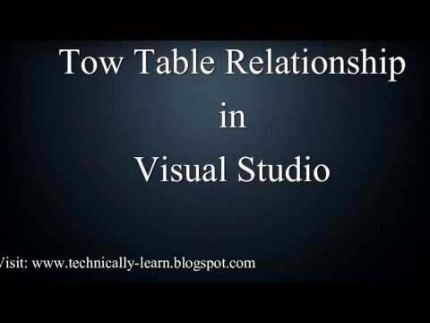 How to Create Two Table Relationship in Visual Studio