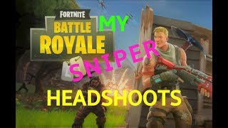 Headshoots with sniper in Fortnite