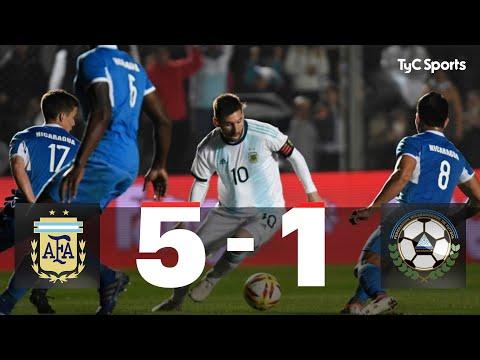 Argentina 5-1 Nicaragua (GOLES Y RESUMEN)
