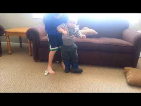 68ef6e7086529b Very Funny Video Baby Toddler walking in boots - one is backwards - by  Angela Gruis