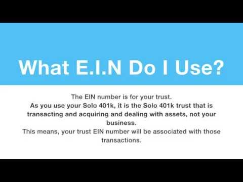 How to Obtain Your Solo401k Trust EIN