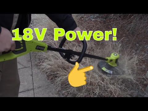 Ryobi 18 volt string trimmer review (Model#  P20010A)