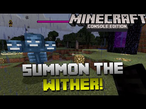 Minecraft Xbox & Playstation: How to Summon the Wither! | Spawning the Wither