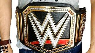 WWE World Heavyweight Championship Jakks Title Belt Replica Roleplay Unboxing & Review   2016!!