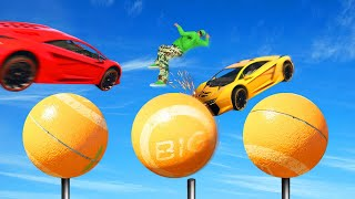 EXTREME WIPEOUT BALL JUMP CHALLENGE! (GTA 5 Funny Moments)