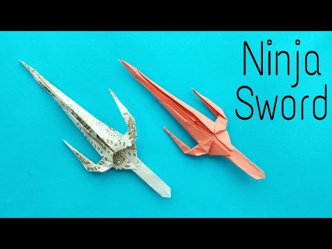 Ninja Sword | Sai - Weapon Origami Tutorial by Paper Folds