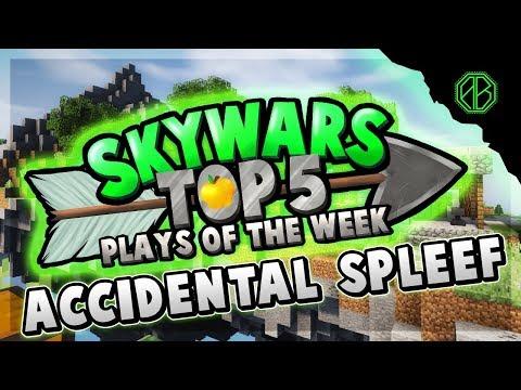 ACCIDENTAL SPLEEF! - Top 5 SKYWARS PLAYS of the Week