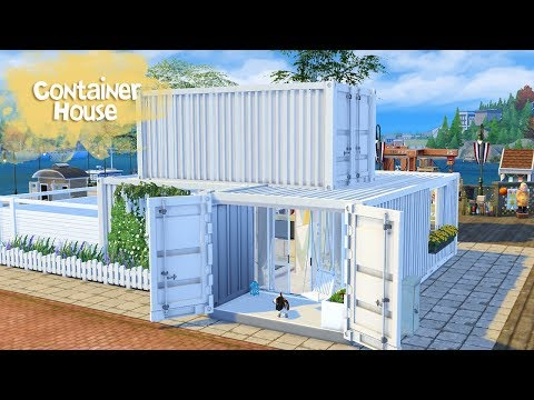 CONTAINER HOUSE Sims 4 || Speed Build || Simsbiosis