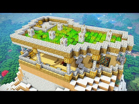 Minecraft Tutorial: Ultimate Survival Mountain House (How to Build)