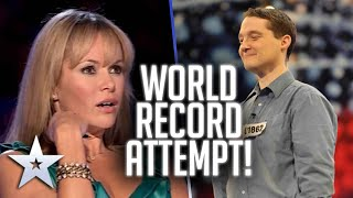 Contestant attempts chocolate eating GUINNESS WORLD RECORD!   Britain's Got Talent
