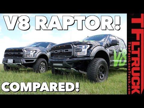 V8 Raptor vs Stock Twin-Turbo V6 Ford Raptor: Compared