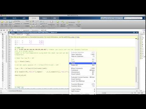 MATLAB Video 7: Example 1 using char and num2str functions