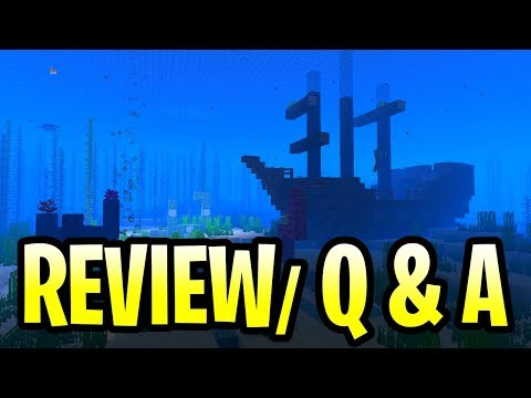 Minecraft Update Aquatic Review Live Q & A! New Mobs, Weapons & More! PE, Xbox One & Windows 10