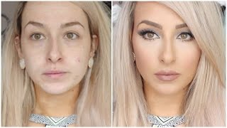 long lasting, flawless full coverage foundation routine - Full face makeup bronzer, blush, concealer