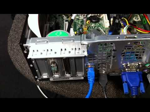 How To Install Serial and Parallel cards to HP8200 SFF