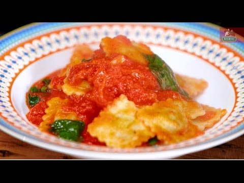 Six Minute Sugo with Spinach and Ricotta Ravioli by Adam Swanson on Good Chef Bad Chef