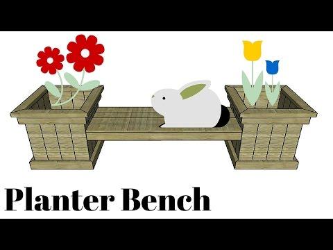Garden Planter Bench Plans