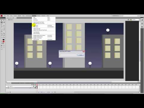How to make a sniper shooting game in Adobe Flash CS4  (Part 2/2 - Enemies)