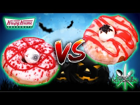 KRISPY KREME DONUTS vs HOMEMADE 🍩 SCARY Fast Food Facts! Halloween Edition 🎃