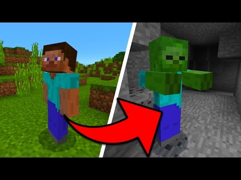 How To Turn Into Any Mob in Minecraft Pocket Edition (Shape Shifter Mod)