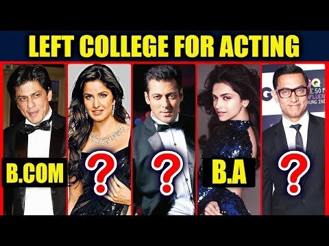 Popular Bollywood Super Stars Who Left College For Acting