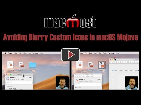 Avoiding Blurry Custom Icons In macOS Mojave (MacMost #1838)